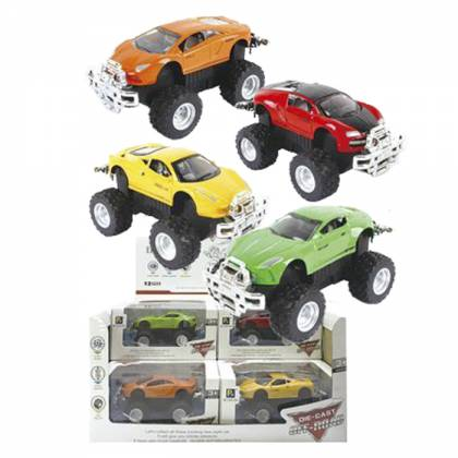 DIE CAST FRICTION OFF ROAD SUPER CAR 10.5cm 13cm